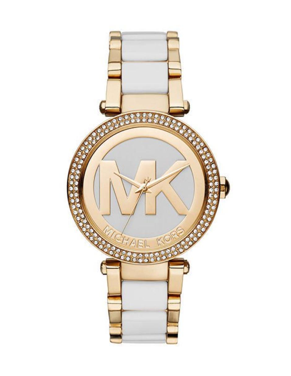 85dc4a91f038 reloj michael kors blanco con dorado