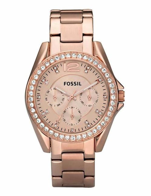 dba914ff759d Fossil Riley ES2811 Reloj para Dama Oro Rosado Precio Sugerido
