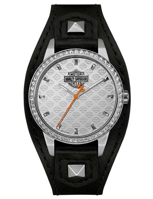 3595b5a48871 Vista Rápida. Reloj para dama Harley Davidson Shaped Cuff 76L183 negro