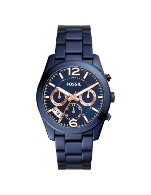 aaf98628dc8e Fossil Perfect Boyfriend ES4093 Reloj para Dama Color Azul ...