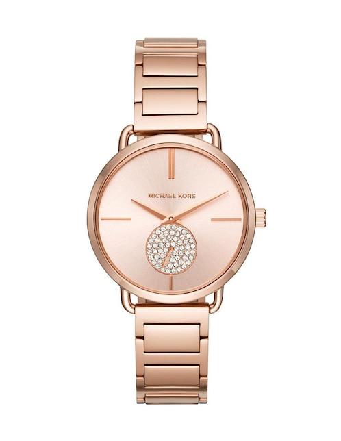bf49e28fcde0 Michael Kors Portia MK3640 Reloj para Dama Color Oro Rosa