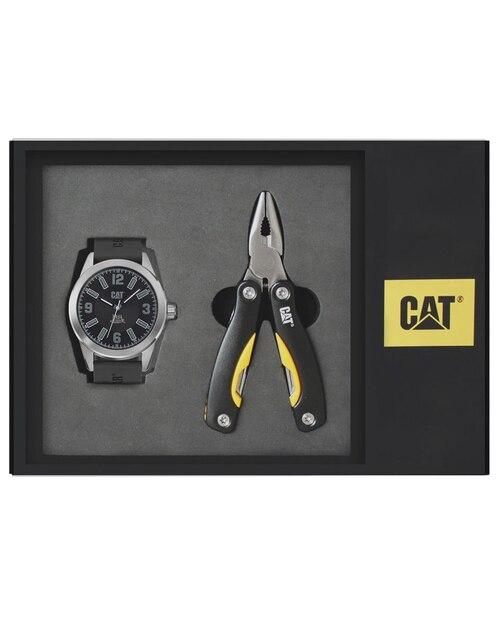 Box set de reloj para caballero CAT Tailor Made 05.140.21.137.SET negro 002ca4ac8701