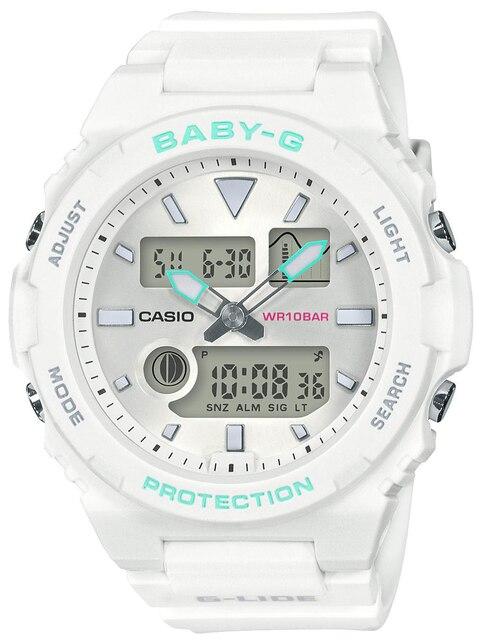 239d95d8f94e Vista Rápida. Reloj para dama Casio Baby-g BAX-100-7ACR blanco. Precio  Sugerido  ...