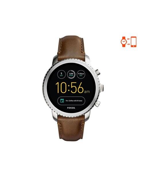 e2b954ea964b Vista Rápida. Smartwatch para caballero Fossil Q Explorist FTW4003 café