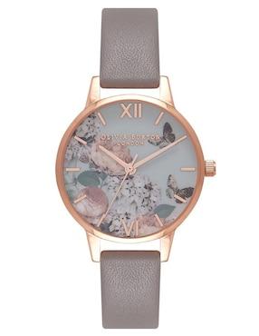 d81f638e7207 Reloj para dama Olivia Burton Marble Florals OB16E.