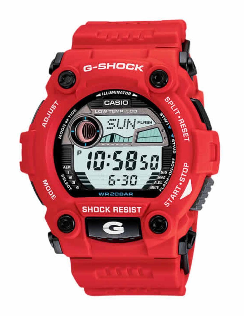 d363883ffb9e Reloj para caballero Casio G-Shock G-7900A-4CR rojo