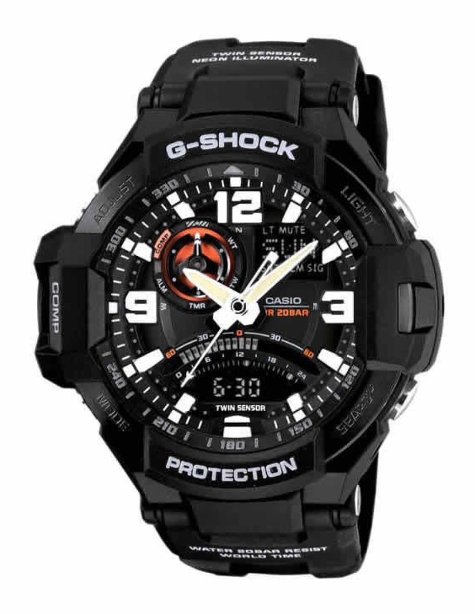 a0e4cbe7c6f0 Reloj para caballero Casio G-Shock GA-1000-1ACR negro