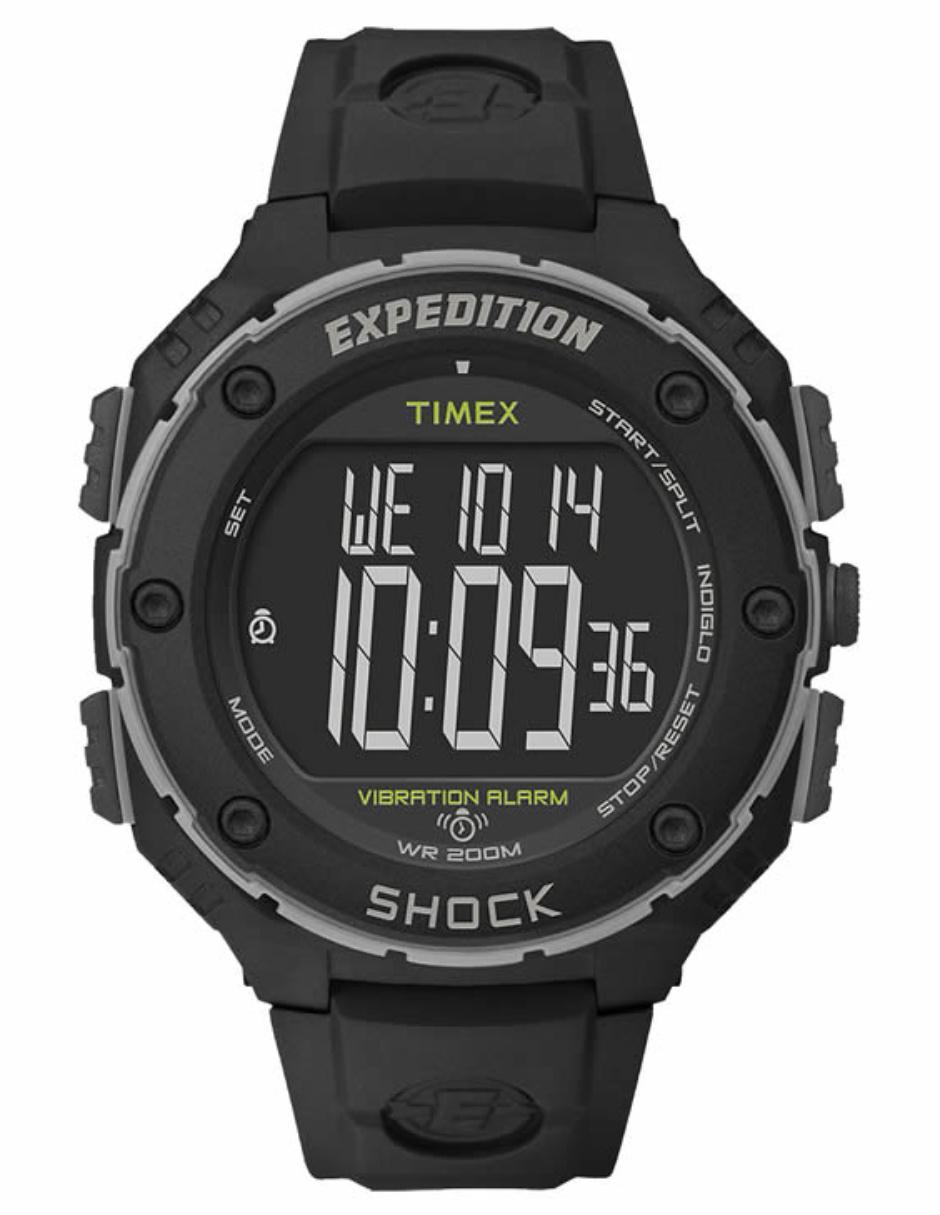 52a3a2101460 Reloj para caballero Timex Outdoor Expedition Shock XL T49950 negro