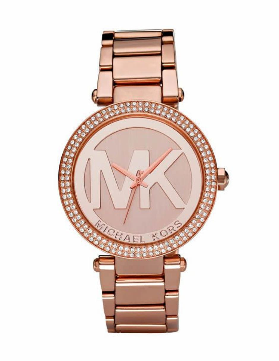 42ac21671e61 Michael Kors Parker MK5865 Reloj para Dama Color Oro Rosa ...