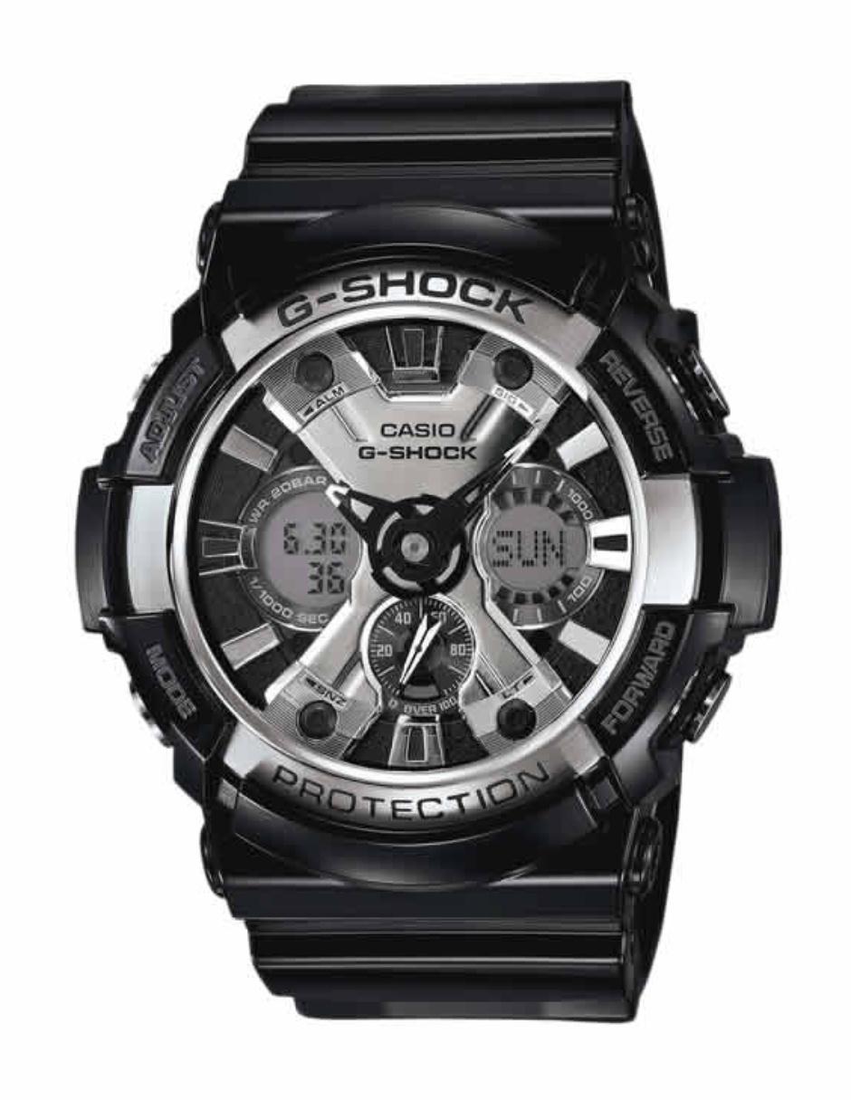 00c70fb2040c Reloj para caballero Casio G-Shock GA-200BW-1ACR negro