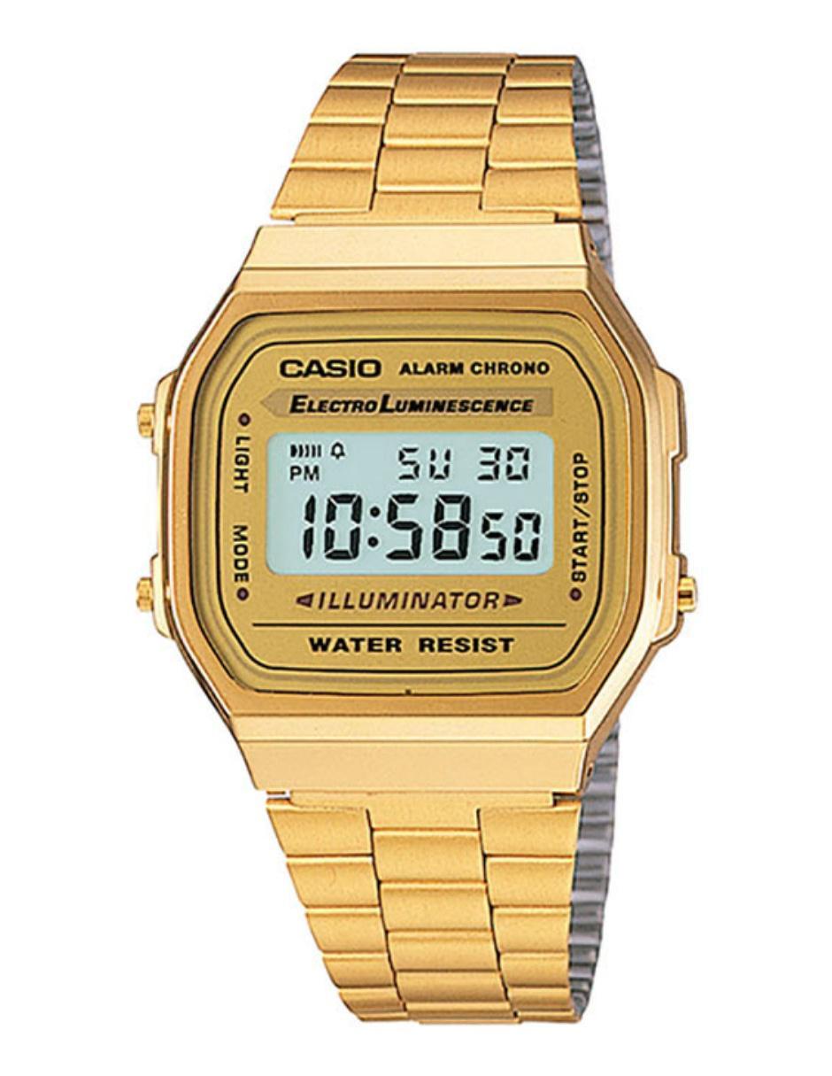 Reloj para caballero Casio Vintage A168WG-9VT Precio Sugerido 79a59f1cfd03
