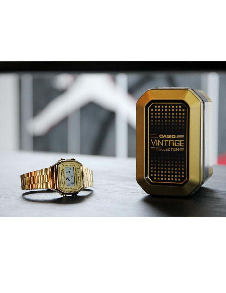 Vintage Caballero Casio 9vt Reloj A168wg Para Nn0Ovwm8y