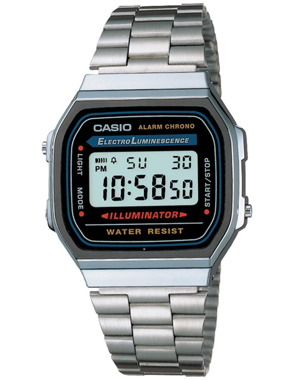 26f19ee3737 Reloj unisex Casio Vintage A168WA-1VT Precio Sugerido