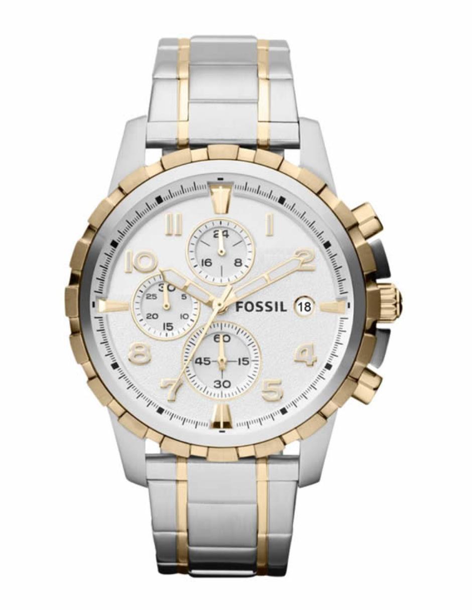 fabebb33ca88 Fossil Dean FS4795 Reloj para Caballero Color Plata