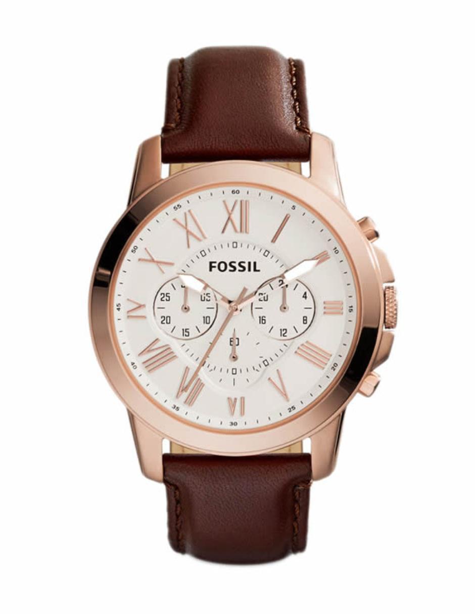 0c01d9af6ee2 Fossil Grant FS4991 Reloj para Caballero Color Café