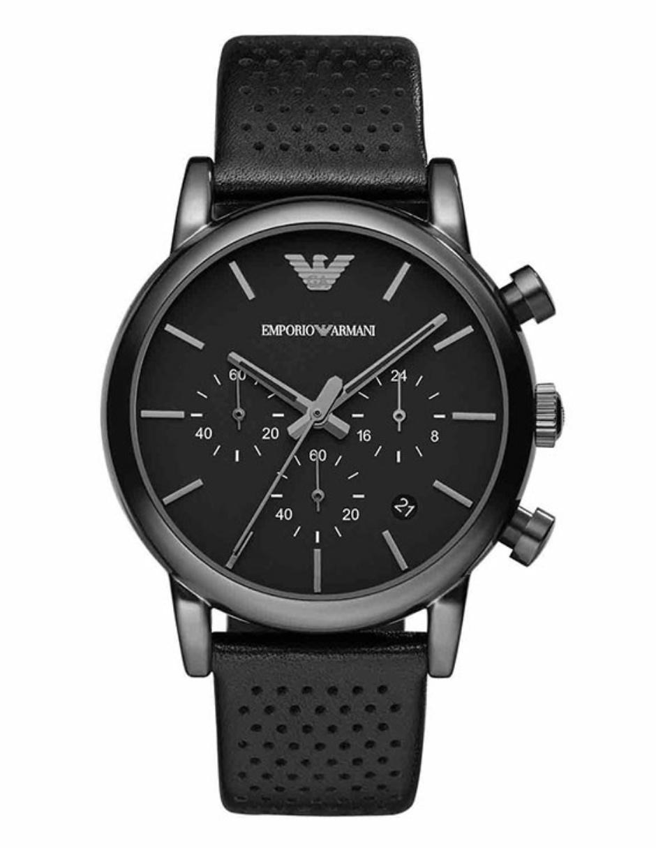 db8514a24b5a Reloj para caballero Emporio Armani Luigi AR1737 negro
