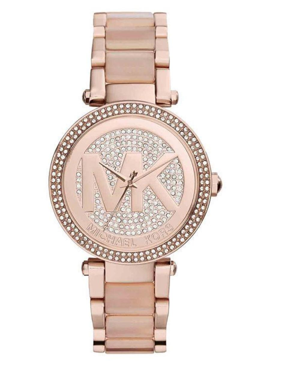 Reloj Color Dama Rosa Para Mk6176 Oro Parker Michael Kors gby6Yf7
