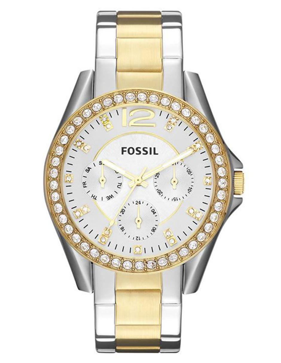 d83e827936eb Fossil Riley ES3204 Reloj para Dama Color Plata Dorado
