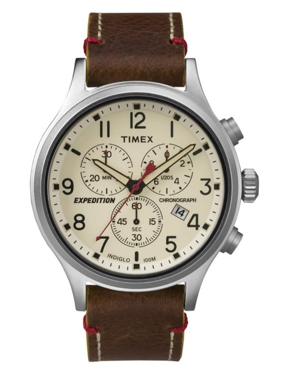 5e58be78c650 Timex Expedition Scout Crono TW4B04300 Reloj para Caballero Color Café