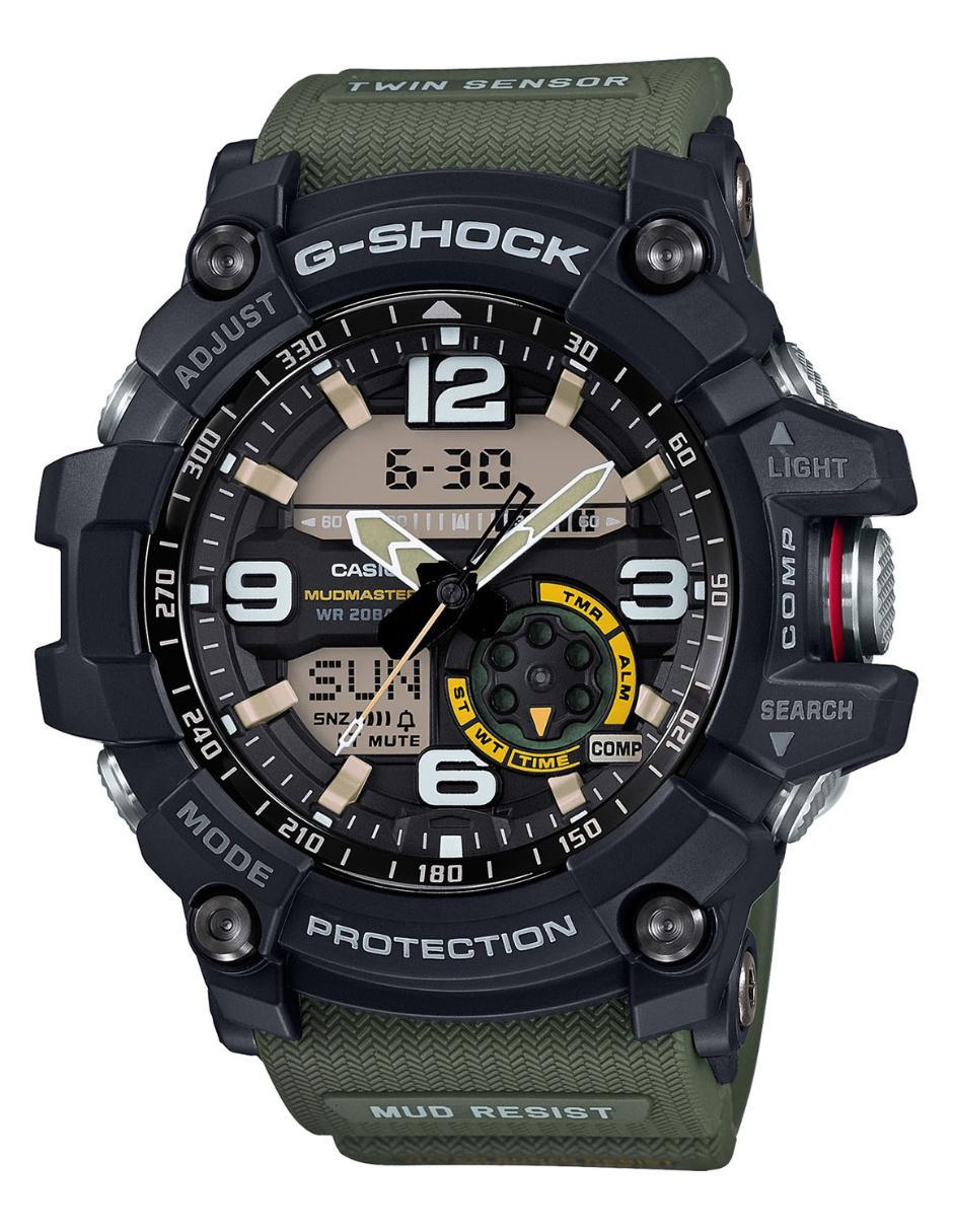 f238a62bb2a3 Reloj para caballero Casio G-Shock GG-1000-1A3CR verde militar