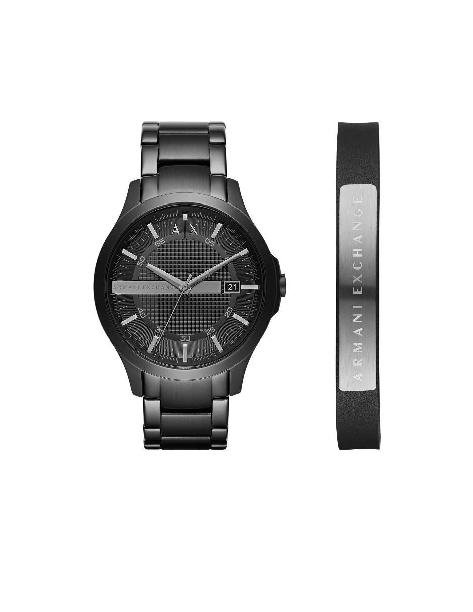 de3b6995b421 Box set de reloj para caballero Armani Exchange negro