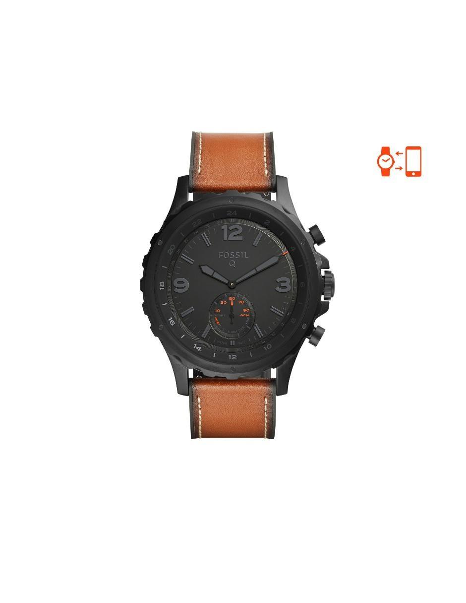 c0bfcb33b33a Smartwatch Híbrido para caballero Fossil Q Nate FTW1114 café