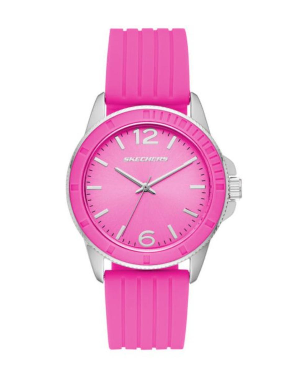 66cb4643 Skechers Stripe Texture Silicone SR6095 Reloj para Dama Color Rosa