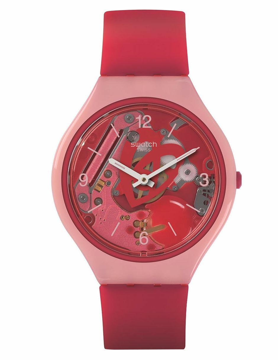Svop100 Swatch Skinamour Dama Regular Rojo Reloj Para Skin LjGqMVSzpU