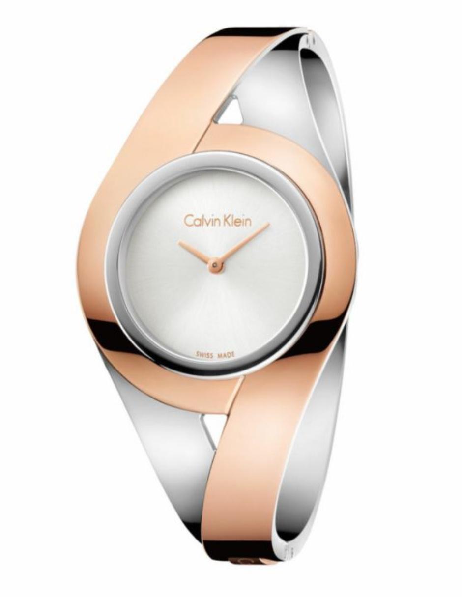 Calvin Sensual Klein K8e2m1z6 Plataoro Para Dama Reloj Rosa lJcT1KF3