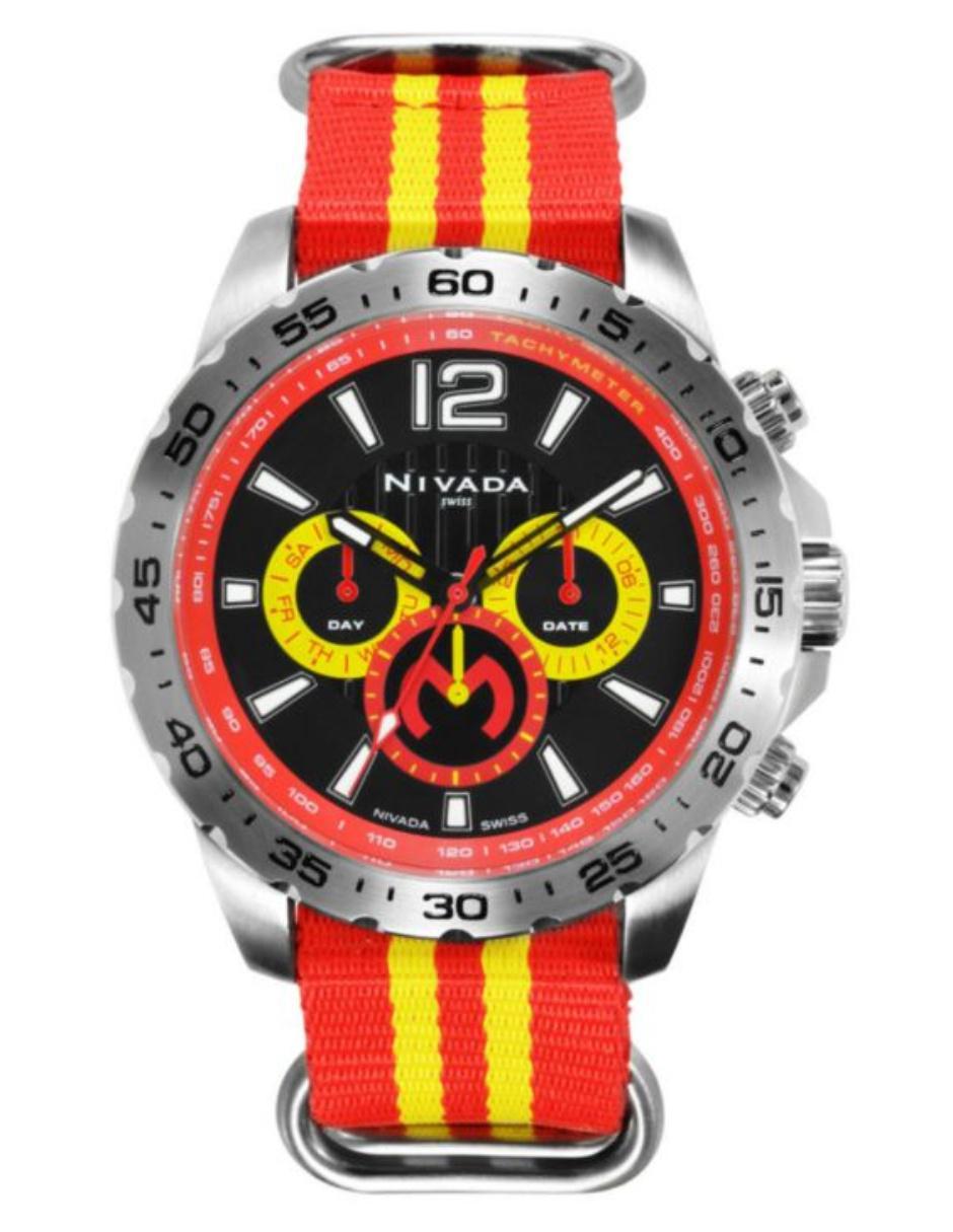 789c6a1d70dc Reloj para caballero Nivada Fans Collection Club Monarcas NP17351MON rojo  amarillo