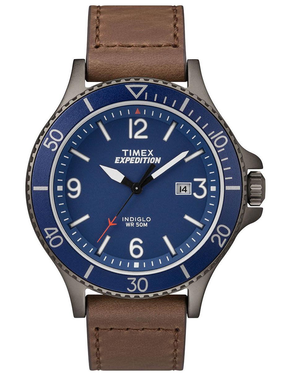 ec8714fa8963 Reloj para caballero Timex Expedition TW4B10700 café obscuro