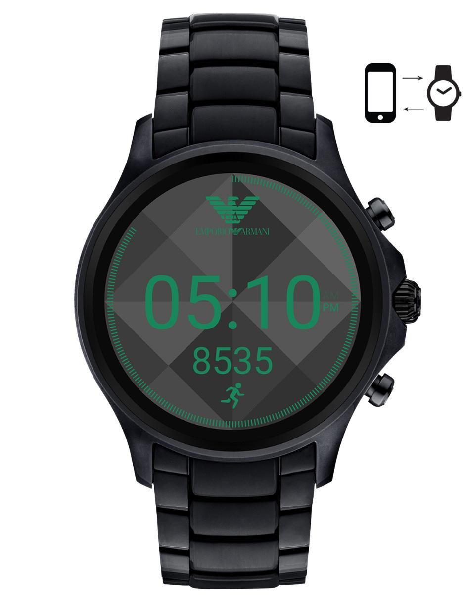 6ab694850 Smartwatch para caballero Emporio Armani Alberto ART5002 negro