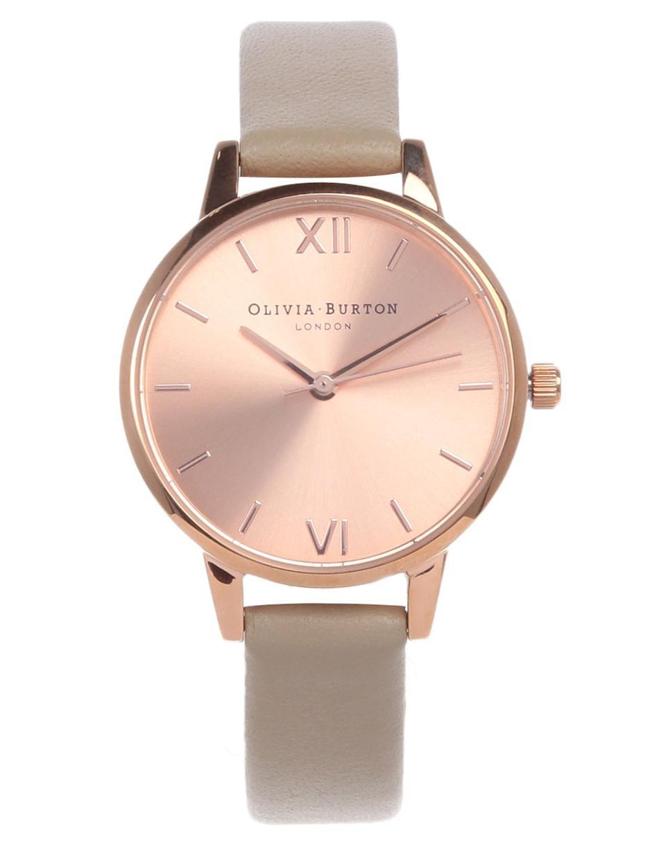 Sunray Dial Claro Ob16md88 Reloj Burton Olivia Dama Para Café hxtQsCrdB