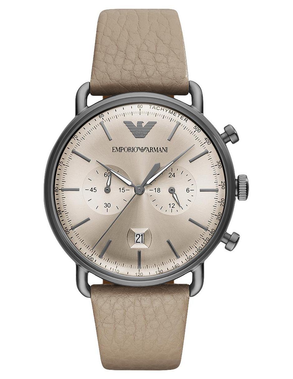 9456971030a0 Reloj para caballero Emporio Armani Aviator AR11107 café claro