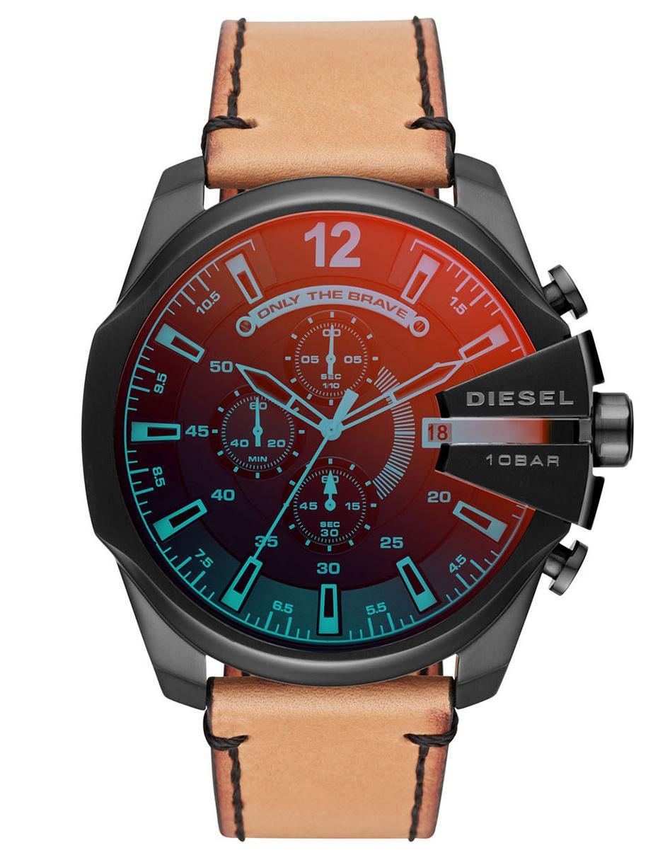 a7c30be8e4a9 Reloj para caballero Diesel Mega Chief DZ4476 café