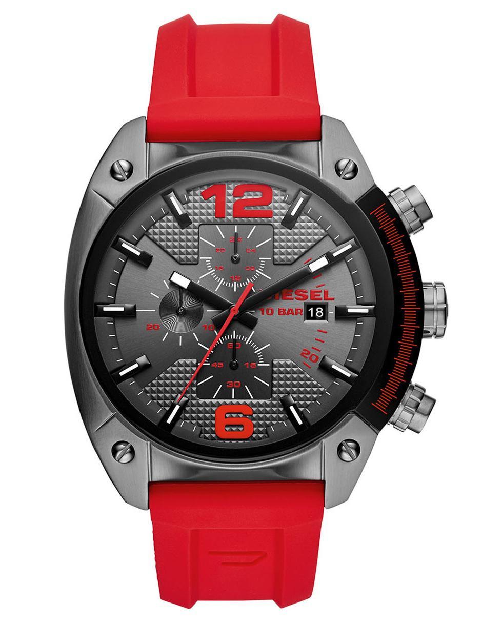 04c2ed60be6e Reloj para caballero Diesel Overflow DZ4481 rojo