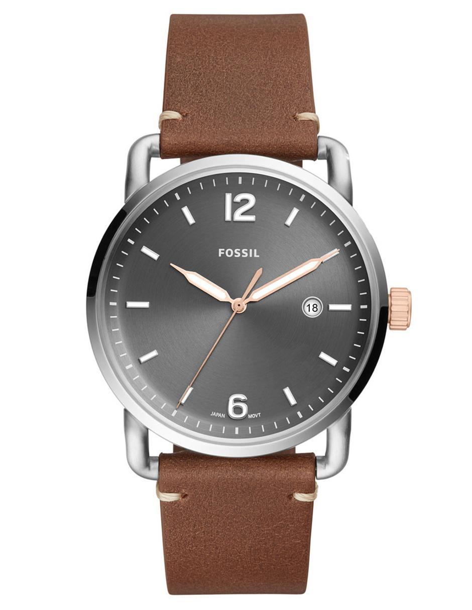 d2c5e800236c Reloj para caballero Fossil The Commuter FS5417 café