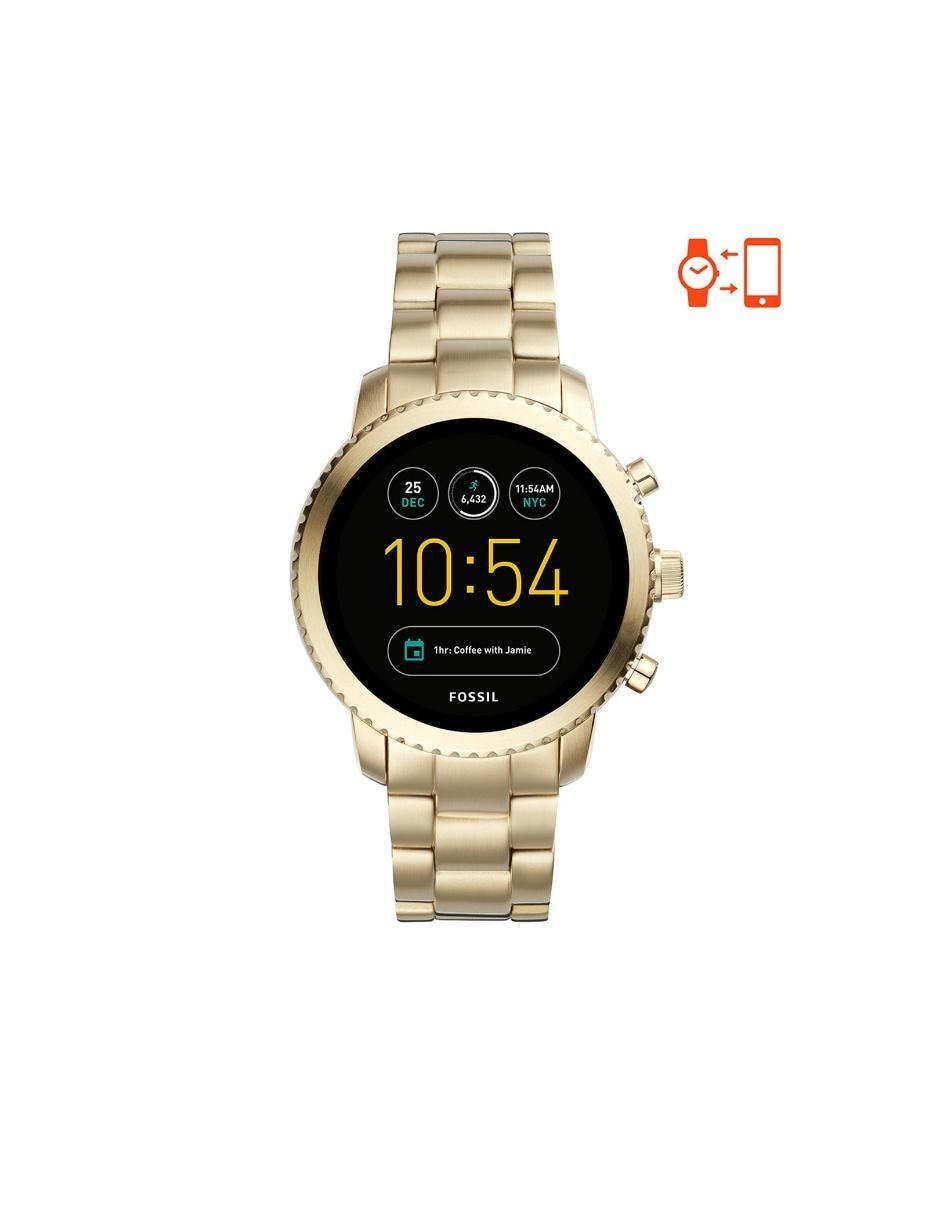 3bc664a22ce5 Smartwatch para caballero Fossil Explorist FTW4010 dorado