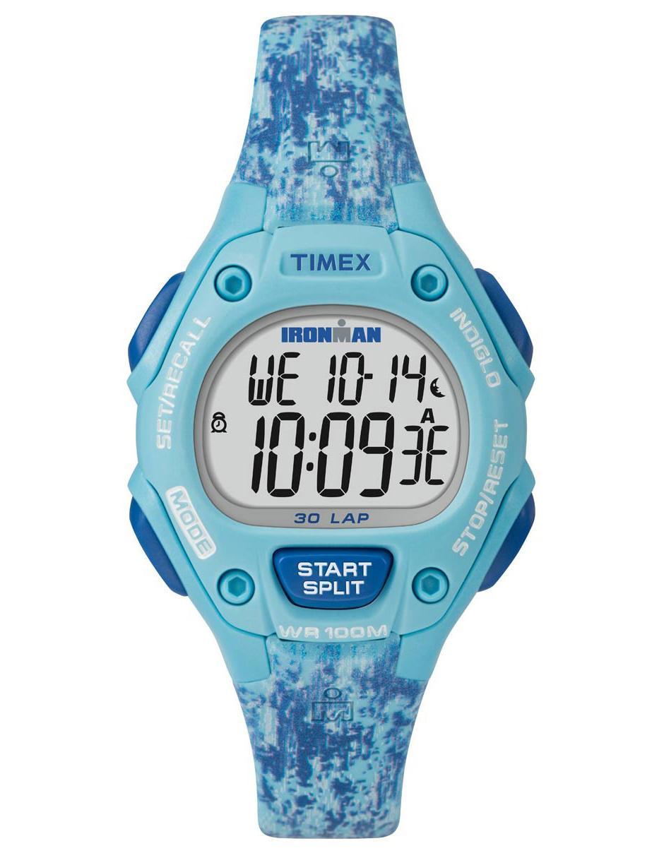 281b9214fca7 Reloj para dama Timex Ironman TW5M16200 azul