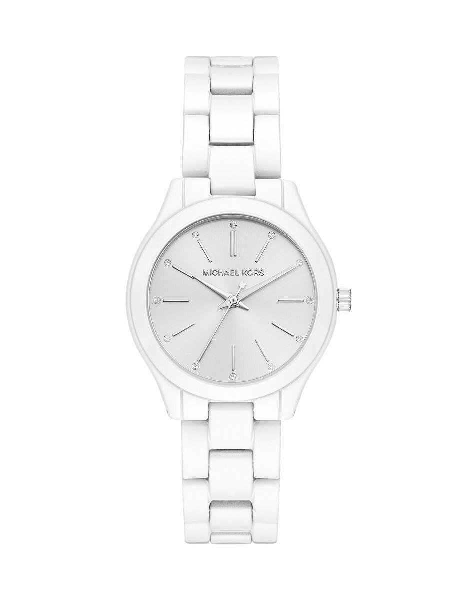 Reloj para dama Michael Kors Slim Runway MK3908 blanco en