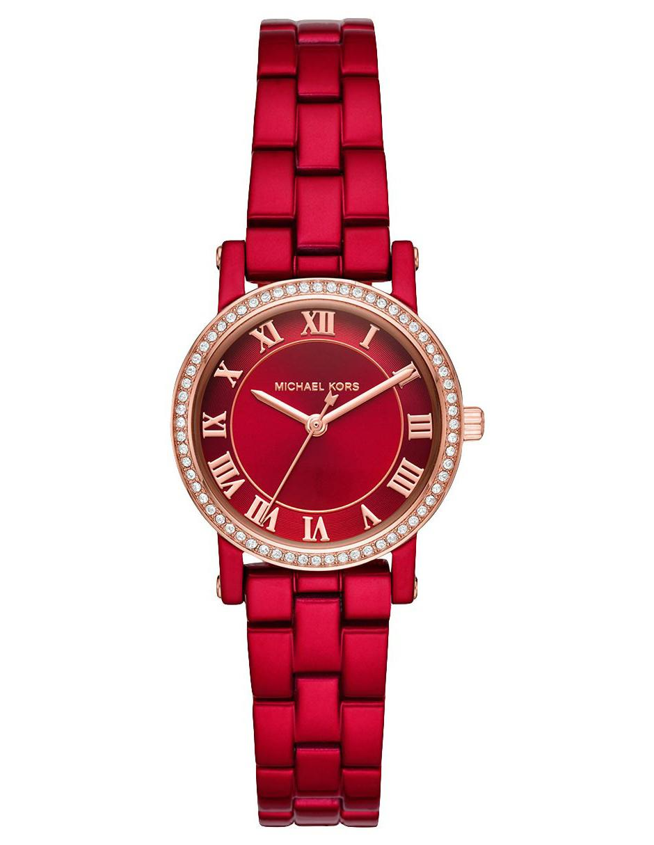 b588431612b42 Reloj para dama Michael Kors Norie MK3896 rojo