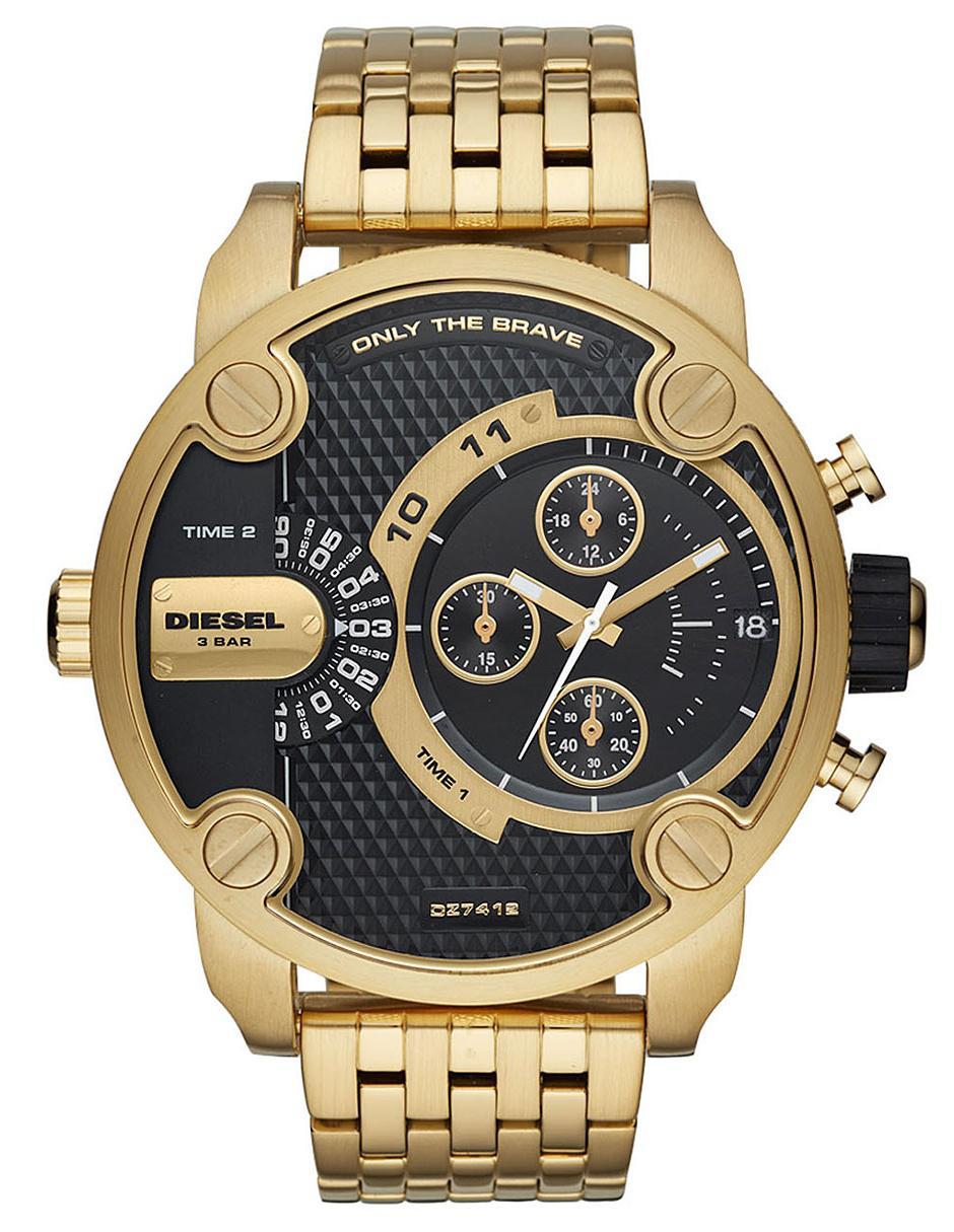 9aff0c57447c Reloj para caballero Diesel Little Daddy DZ7412 dorado