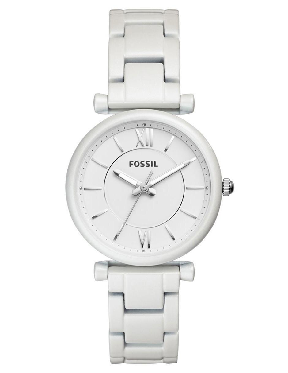 3f88c56b743c Reloj para dama Fossil Carlie ES4401 blanco