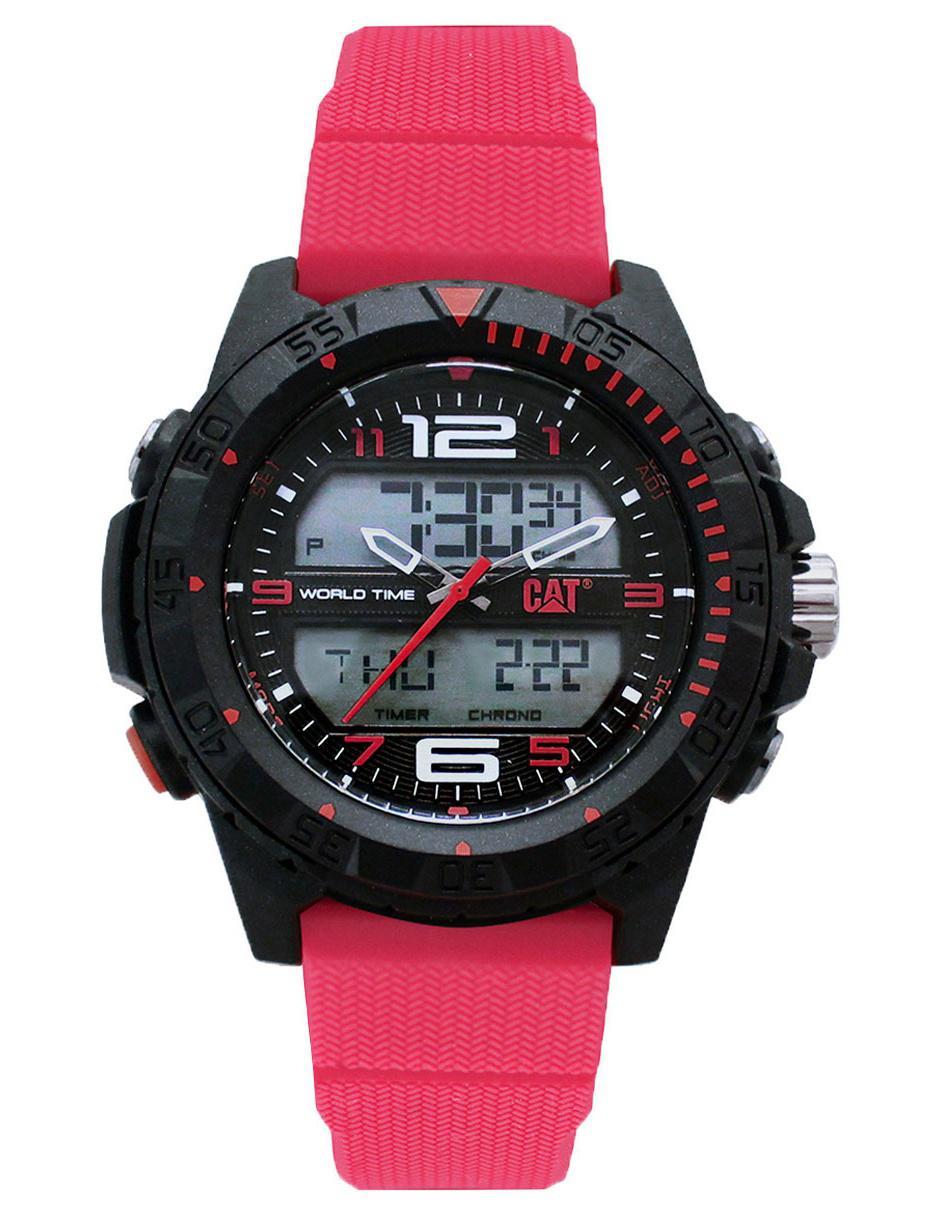 nueva productos ded7d 47a13 Reloj para caballero CAT Basecamp MC15528138 rojo en Liverpool