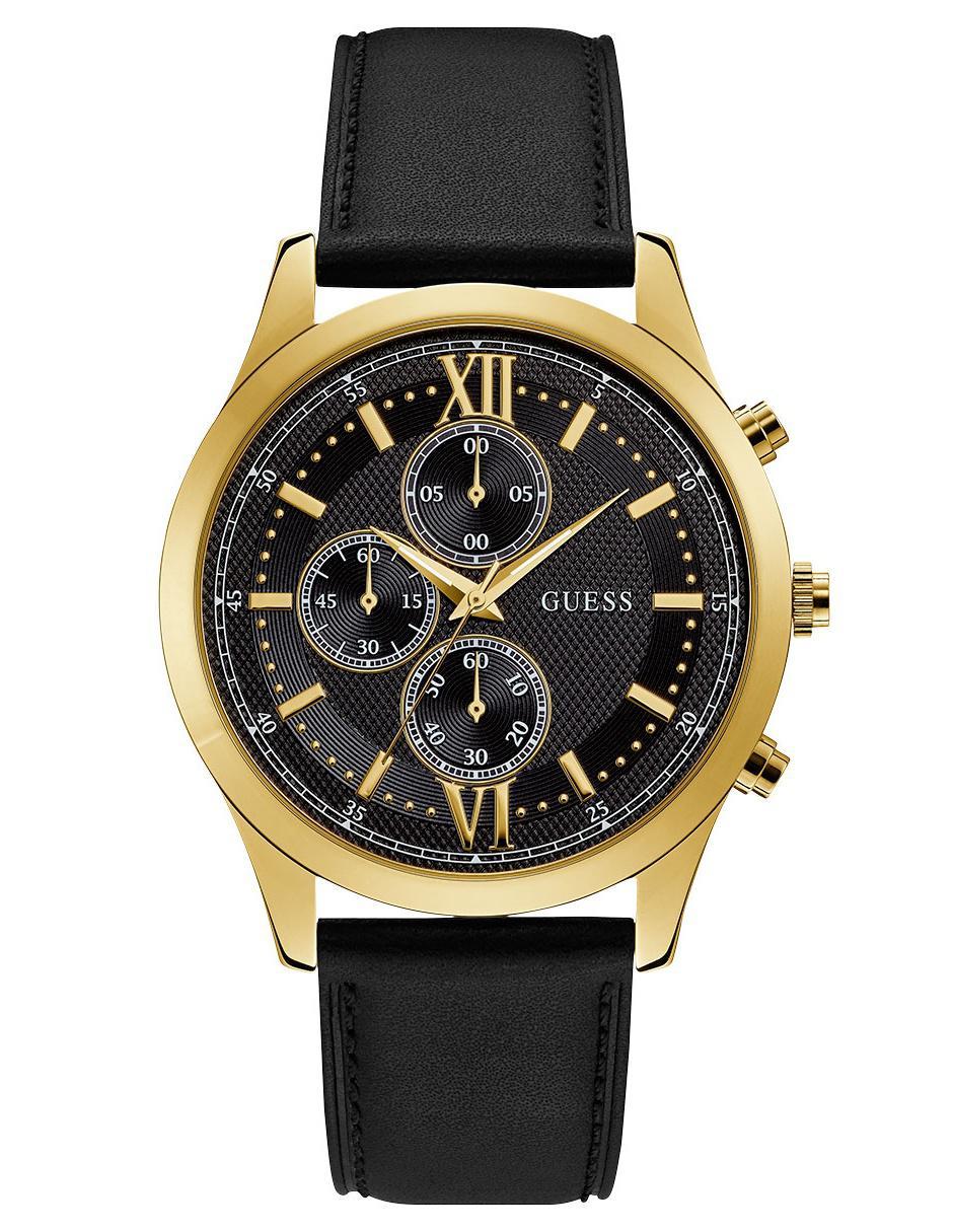 Caballero W0876g5 Guess Hudson Para Negro Reloj bfygYvI67