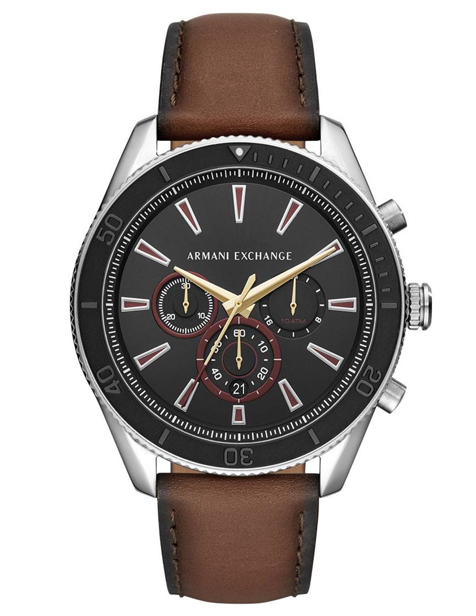 8841b3d3364c Reloj para caballero A X Smart AX1822 café