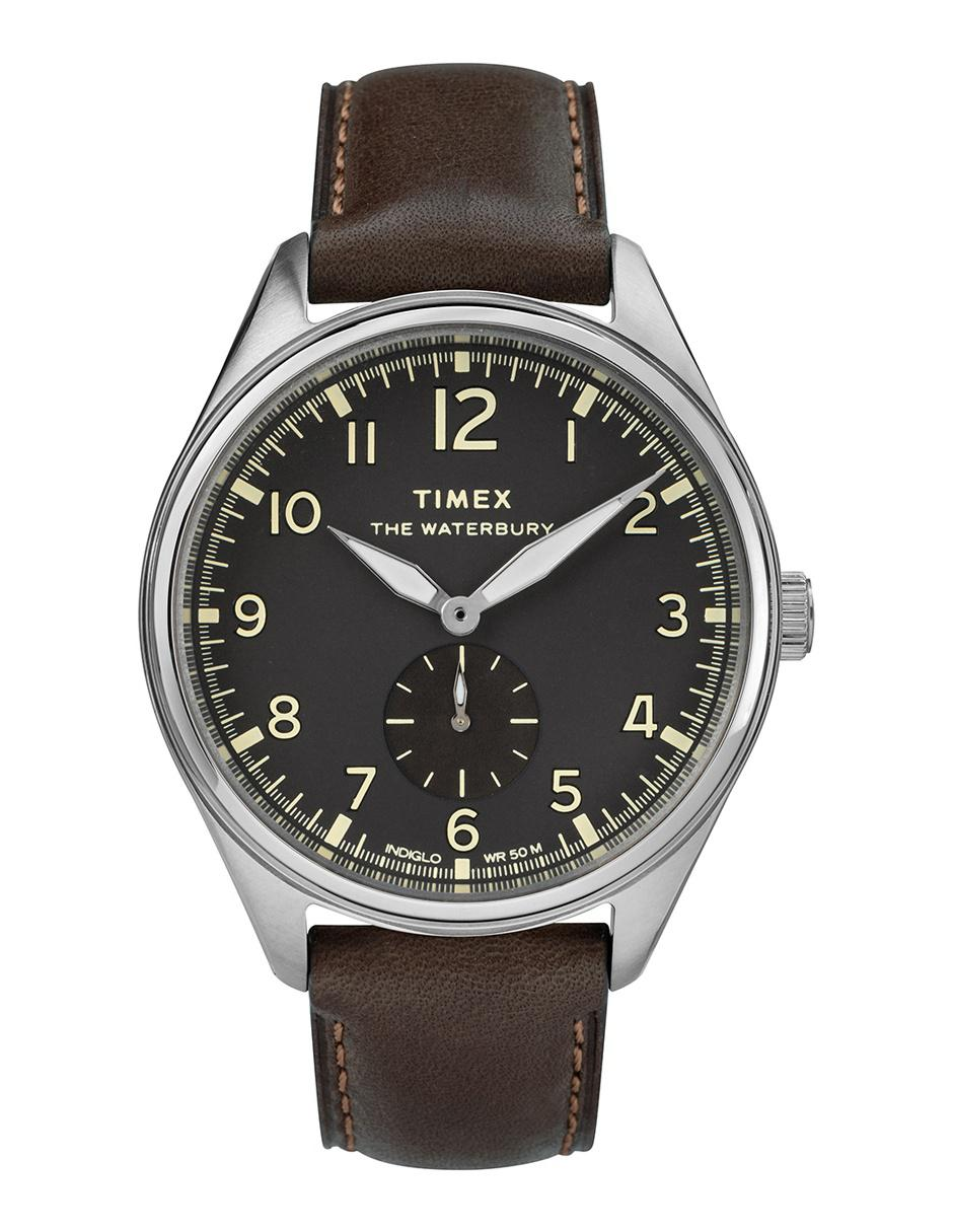 19bbf9d1f9d9 Reloj para caballero Timex Waterbury TW2R88800 café obscuro