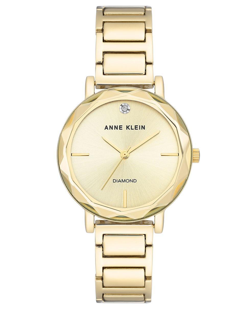 02902a655 Reloj para dama Anne Klein Diamond AK3278CHGB dorado