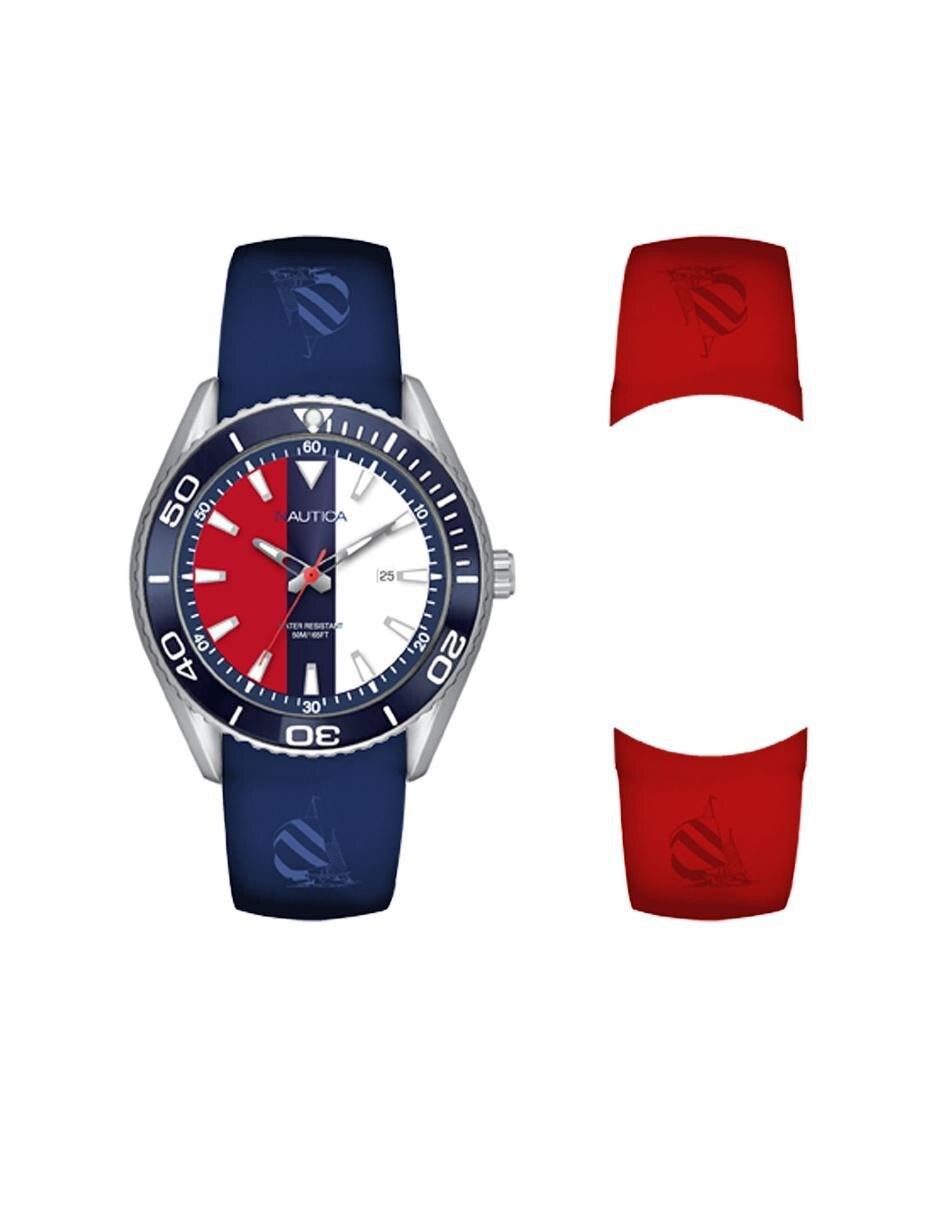 93358ced73d1 Box set de reloj para caballero Nautica NAC 103 NAPN03007 azul ...