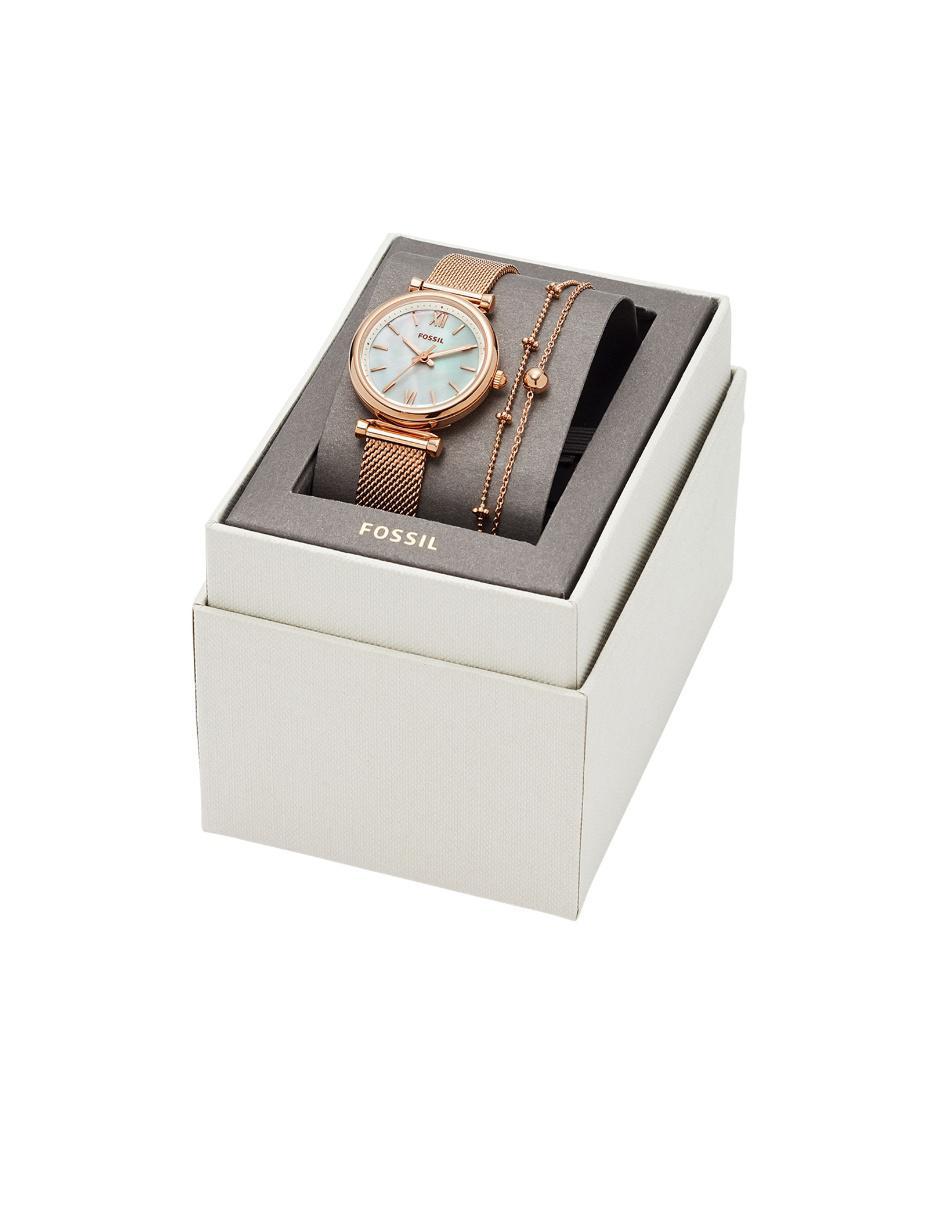 c87124f2bf36 Box set de reloj para dama Fossil Carlie ES4443SET